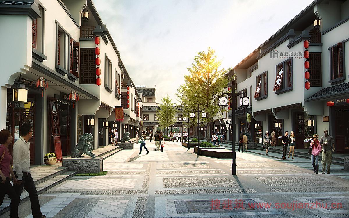"""挣钱网_搜建筑网 -- 2014年52套""""商业步行街""""效果图出炉!绝对不简单呀!"""