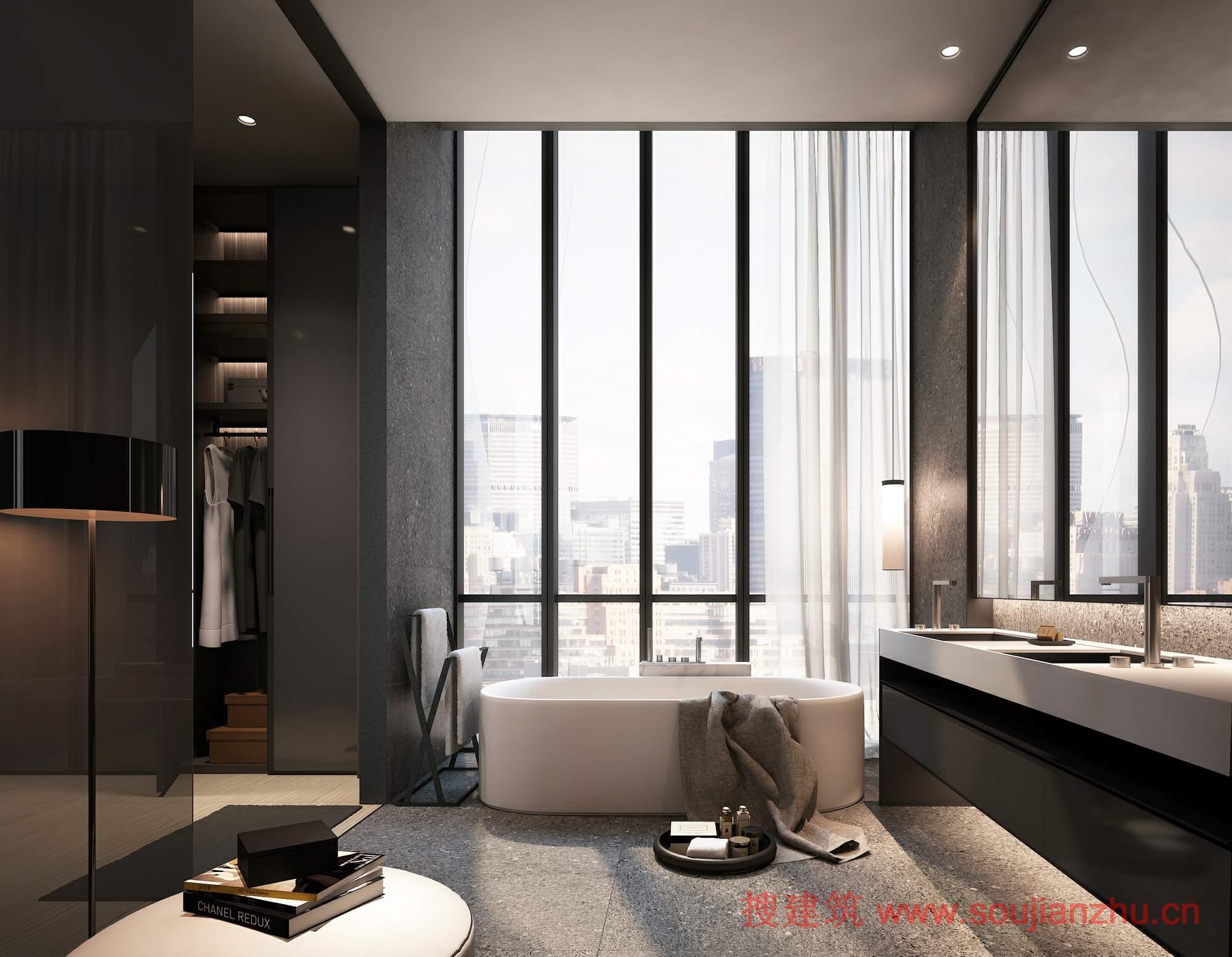 美国·高层公寓---scda architects