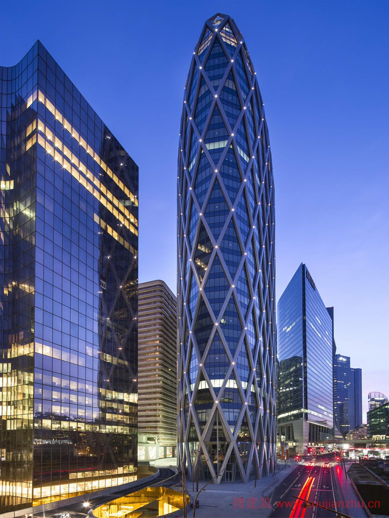 最新·最酷·高层办公建筑(平面 立面)---法国·d2塔楼
