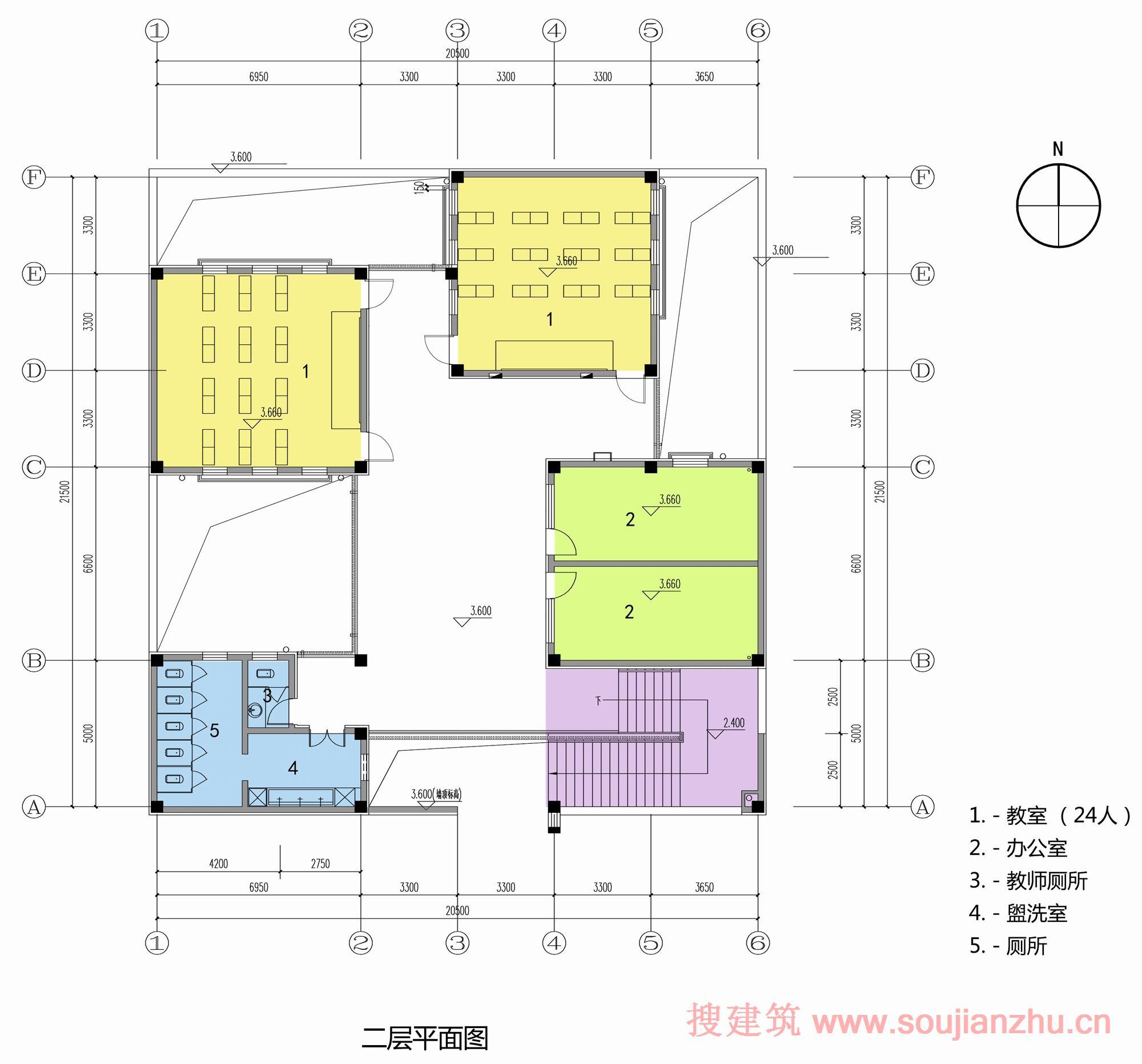 楼顶平面图_cad建筑楼顶平面图_平面设计图