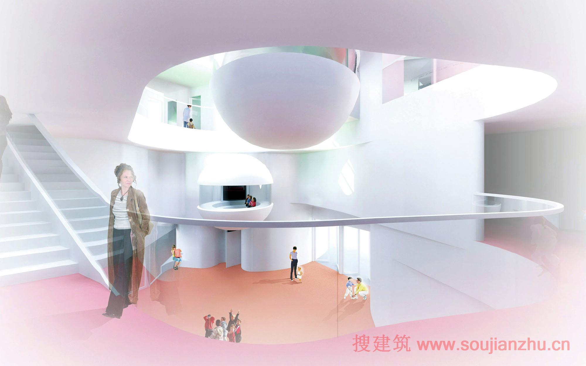 上海复旦大学图书馆_搜建筑网 -- 法国·Saint-Denis幼儿园和小学---Paul Le Quernec