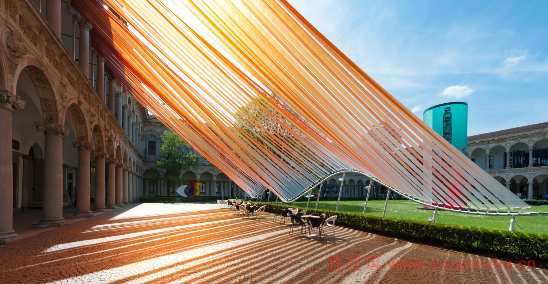 """马岩松在2016米兰设计周中公布了空间装置""""无界"""""""