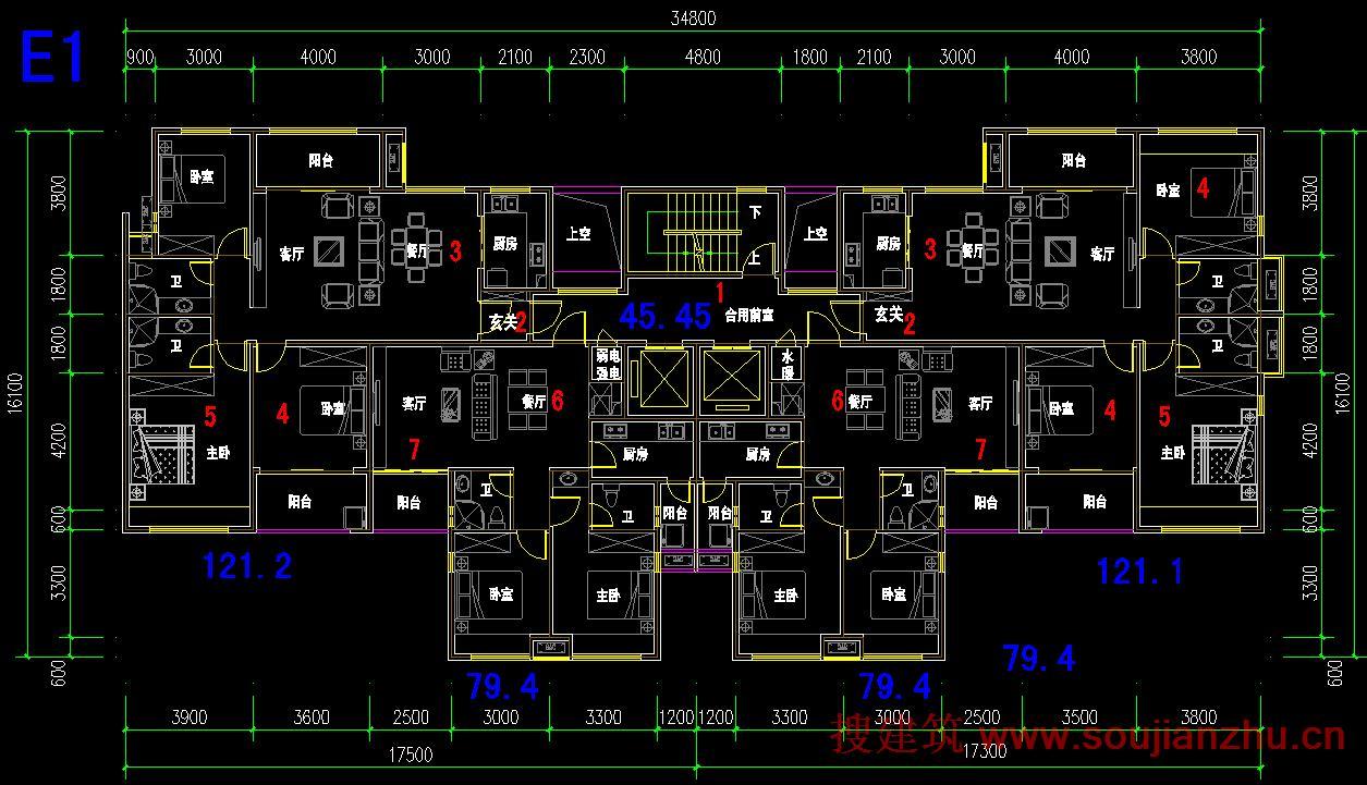 6,客廳餐廳為長方形,有完整的餐廳空間.