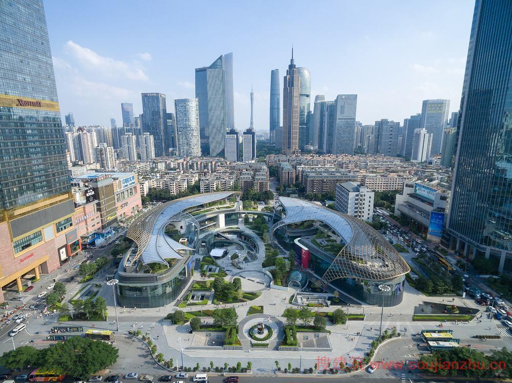 中国各大城市面积_搜建筑网 -- 广州·天环广场(Parc Central)---花园式购物中心--Benoy