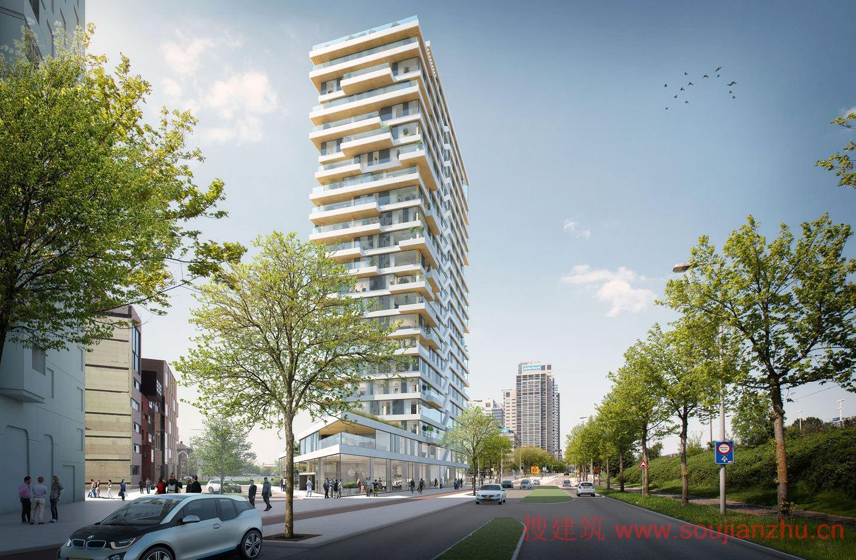 建筑师:Team V Architectuur 、 Lingotto、Nicole Maarse以及ARUP 地点:荷兰 阿姆斯特丹市 楼高:73米(240英尺) 年份:2017年  阿姆斯特丹市选定Team V Architectuur 、 Lingotto、Nicole Maarse以及ARUP设计一个73米(240英尺)高的住宅楼,住宅楼位于阿姆斯特尔河旁边,将成为荷兰最高的木构建筑。预计将于2017下半年开始施工。  该项目命名为高级定制时装(Haute Couture),这主要来自于55个定制