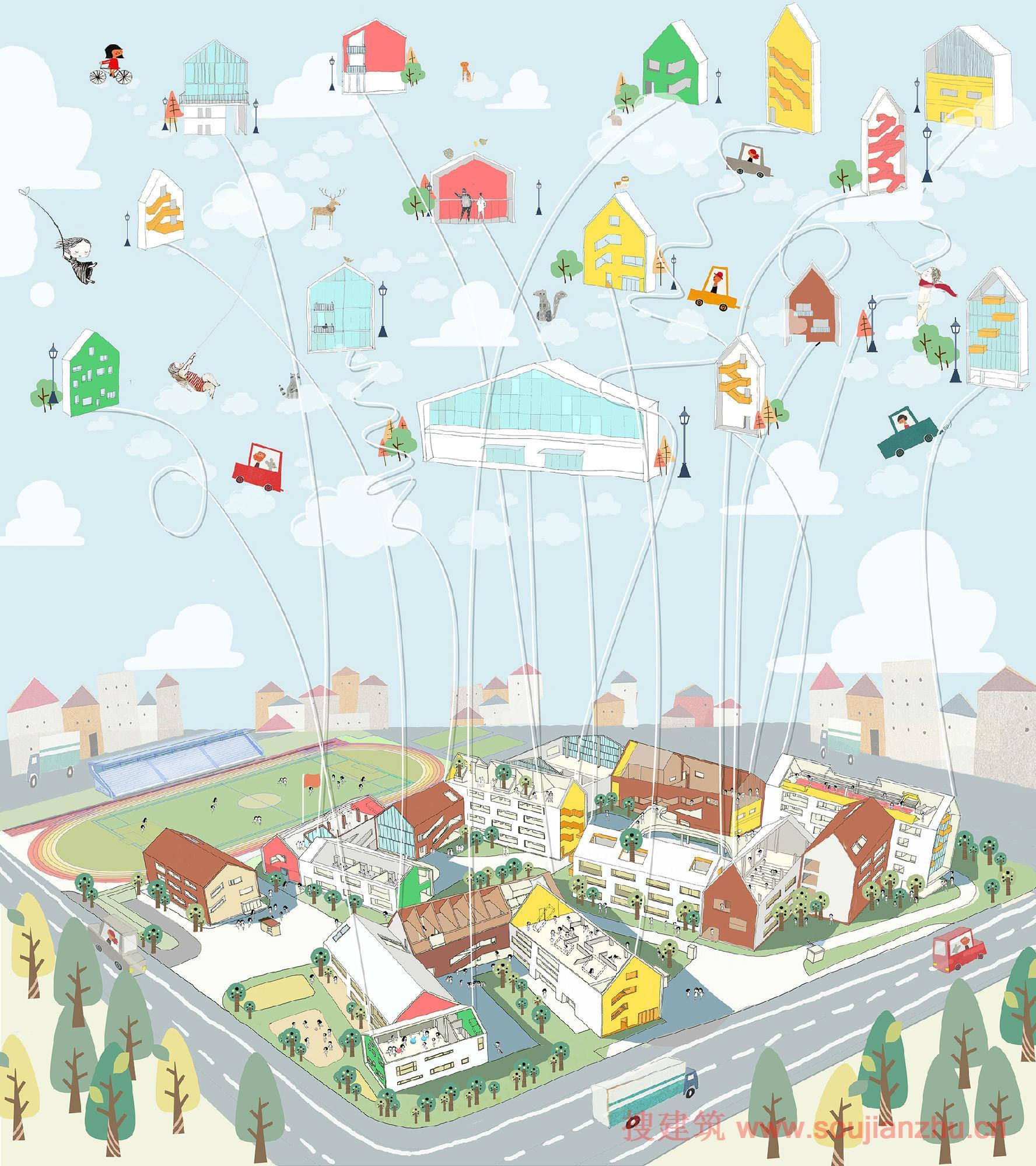 项目名称:杭州未来科技城第二学校 建筑设计:零壹城市建筑