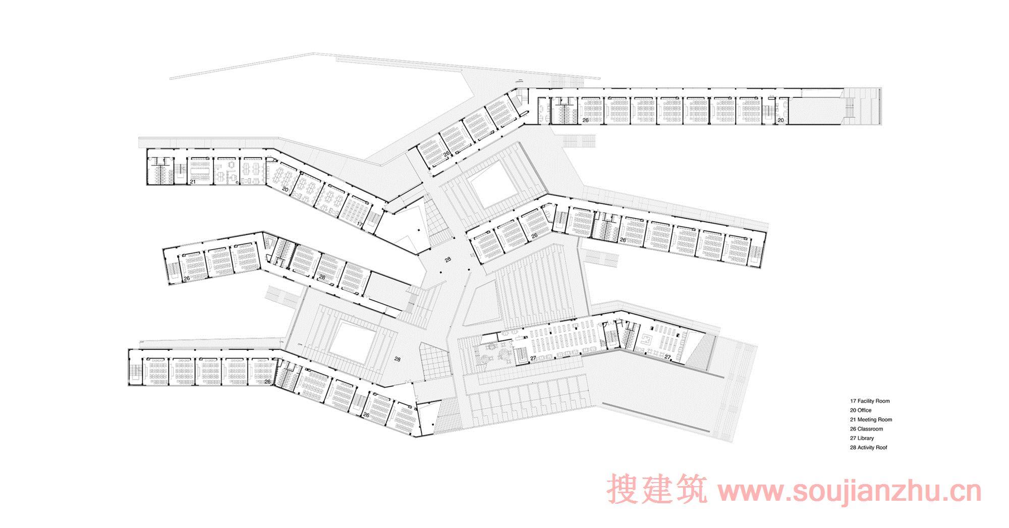 搜建筑网 -- 山西·兴县120师学校---wau design