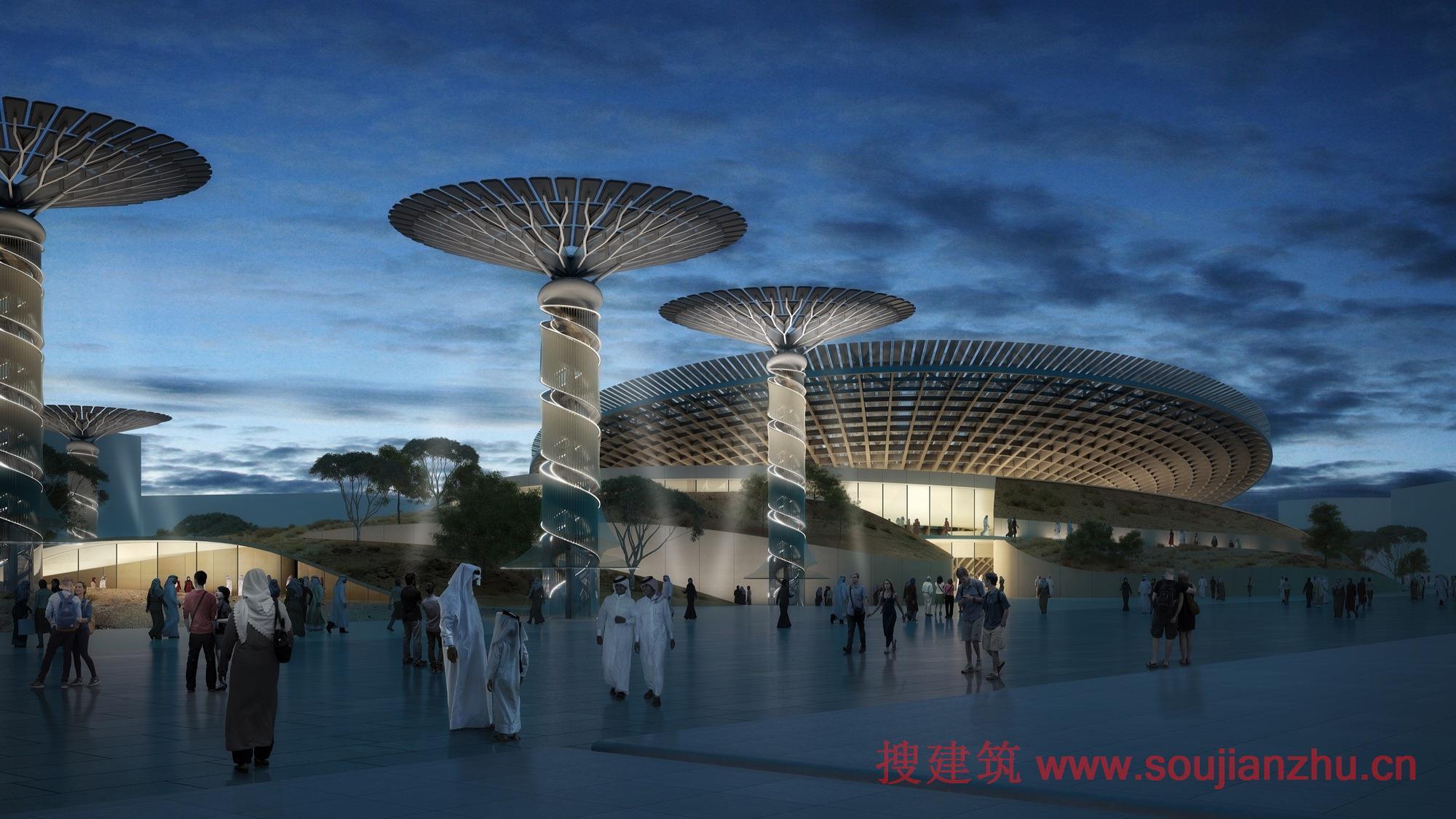 建筑师:Grimshaw 地点:迪拜  Grimshaw已公布了2020迪拜世博会可持续性主题馆的视频。其博览会主题是沟通思想,创造未来。  该展馆的设计灵感来自复杂的自然过程,如光合作用,创建一个能够捕获能量的动态结构,一系列的蝶形结构和创新系统将有助于吸引游客,同时展示建筑自给自足的能力。  该展馆还将强调在UAE沙漠环境中发现的植物和动物生活的经常被忽视的世界,说明大自然是能够反应其设置。  考虑使用寿命作为可持续性的一个方面,展馆的设计都是为了容纳2020世博会的观众,并继续在其功能之外的世