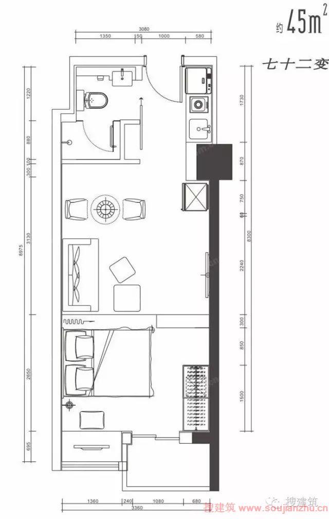 两百平米房子商铺加别墅设计图展示