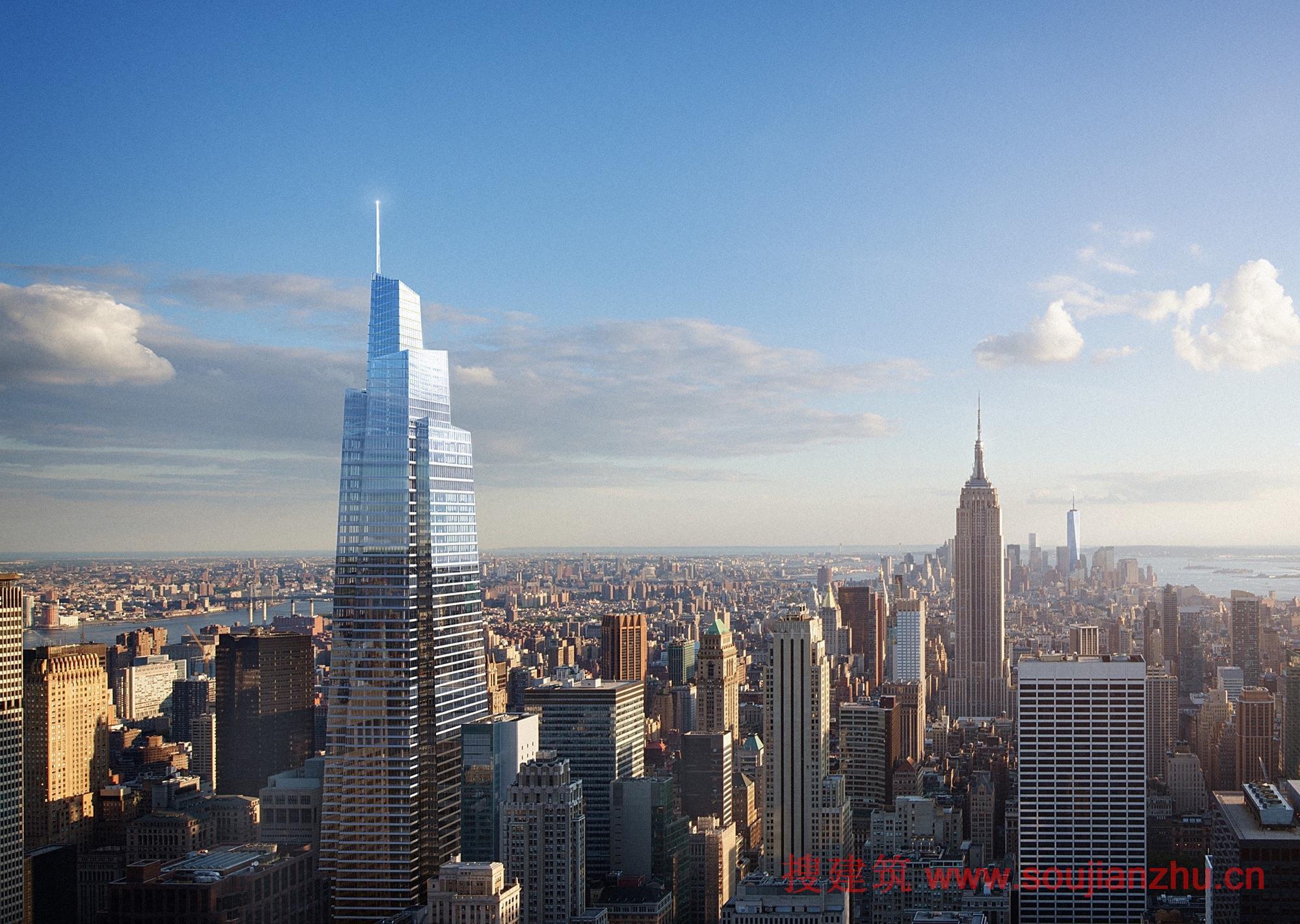搜建筑网 -- 纽约未来的第二高塔破土动工