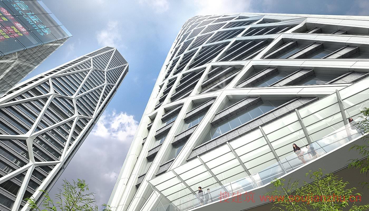 地点: 中国深圳 设计完成: 2019 用地面积: 31,464平方米 项目面积: 439,300平方米 建筑高度: 312米 类型: 商业+办公、综合功能 服务: 建筑、室内设计、结构+土木工程  该分期项目位于深圳湾超级总部区,与滨水公园和捷运网络之间的交通十分便捷。该中心的设计连通新的公共、社交和娱乐设施,形成一个公共活动中心。金融中心构成了一个建筑群,包括一幢带豪华公寓和办公室的300米高大厦、一幢带服务式公寓和酒店的200米高大厦以及一幢带酒店和商业设施的裙楼。裙楼是相邻公园的扩建项目,连通室内