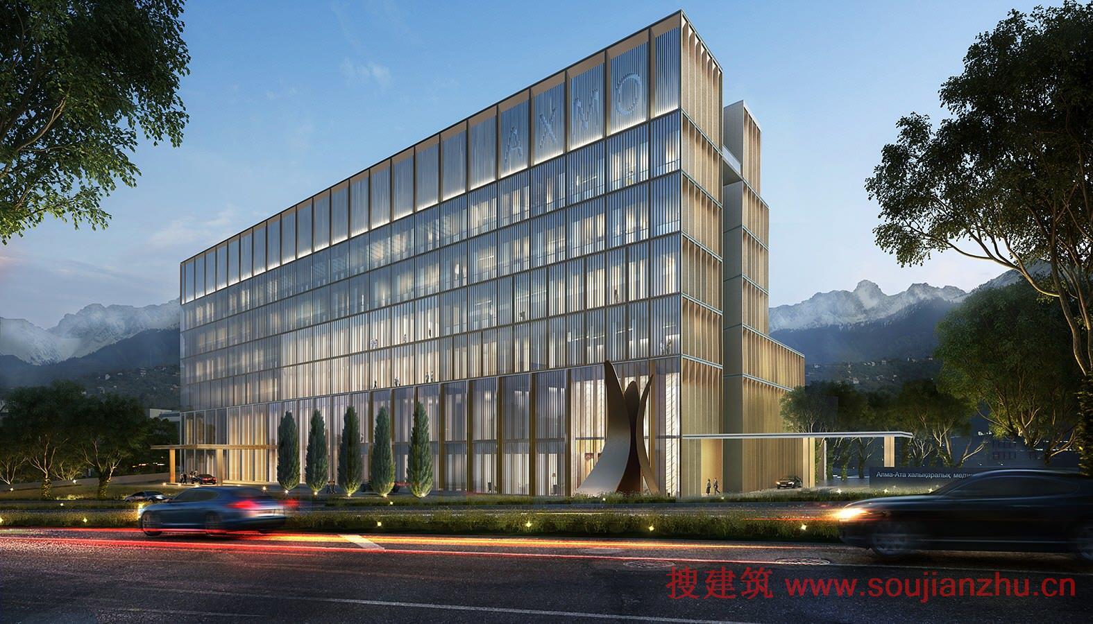 搜建筑网 -- 哈萨克斯坦·阿拉木图国际医疗中心
