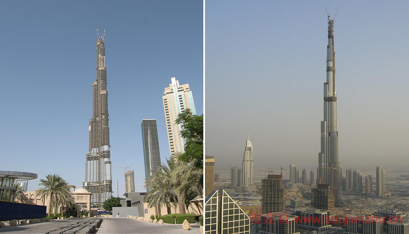 地点: 阿联酋迪拜 项目完工时间: 2010 用地面积: 104,210平方米 项目面积: 454,249平方米 楼层数: 162 建筑高度: 828米 类型: 商业+办公、酒店、综合功能、住宅 服务: 建筑、设备工程、结构+土木工程、高层建筑  828米高的哈利法塔从迪拜市区拔地而起,是世界最高建筑。这座162层的大厦在设计上融合了当地文化元素与尖端技术,从而在极端的沙漠气候条件下也可以实现建筑的高性能。   作为一个大型综合功能开发项目的主体建筑,哈利法塔包含办公空间、商业空间、住宅单元和一家阿玛尼(