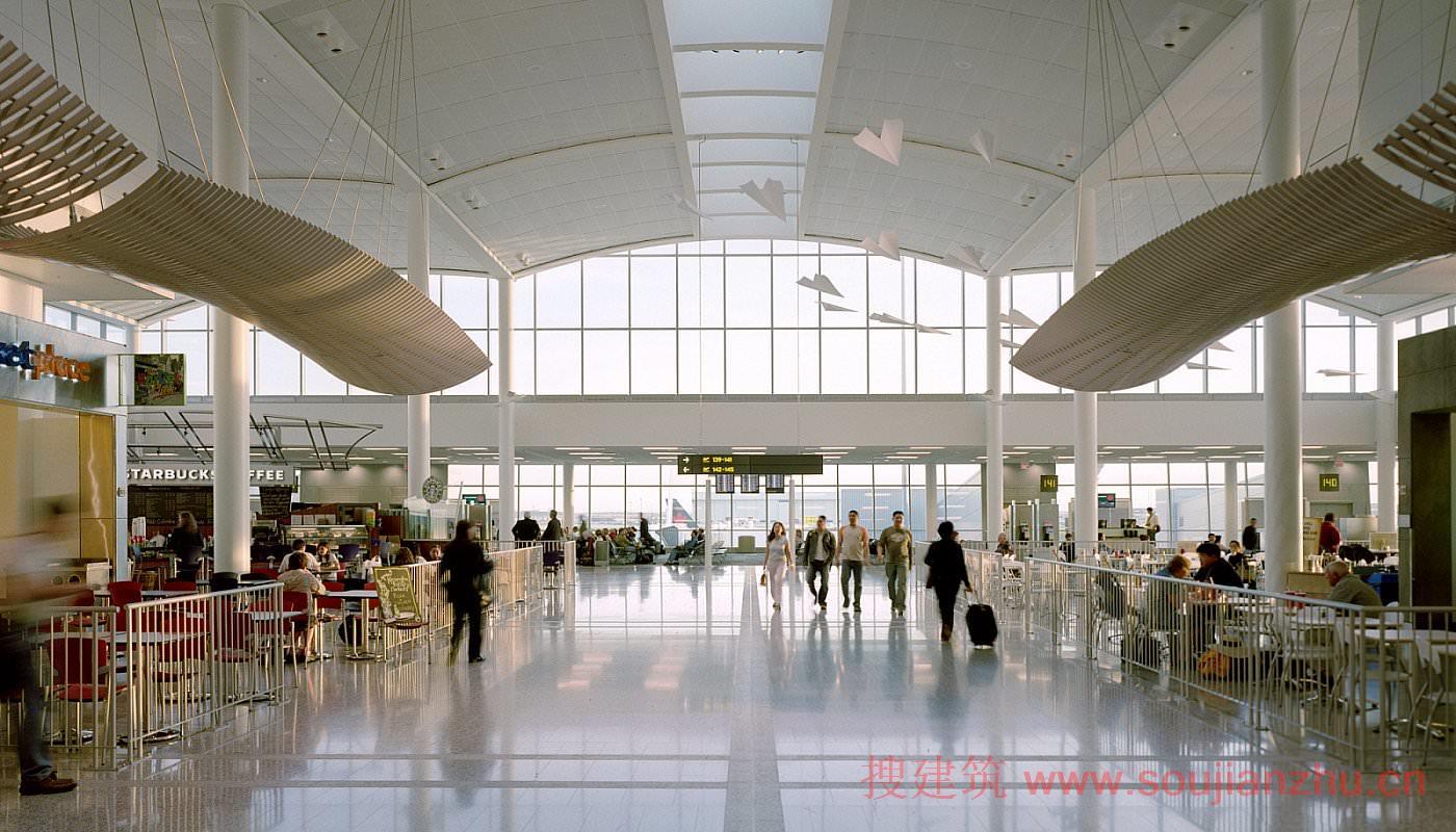 一美元_搜建筑网 -- 美国·多伦多皮尔森国际机场——1号航站楼