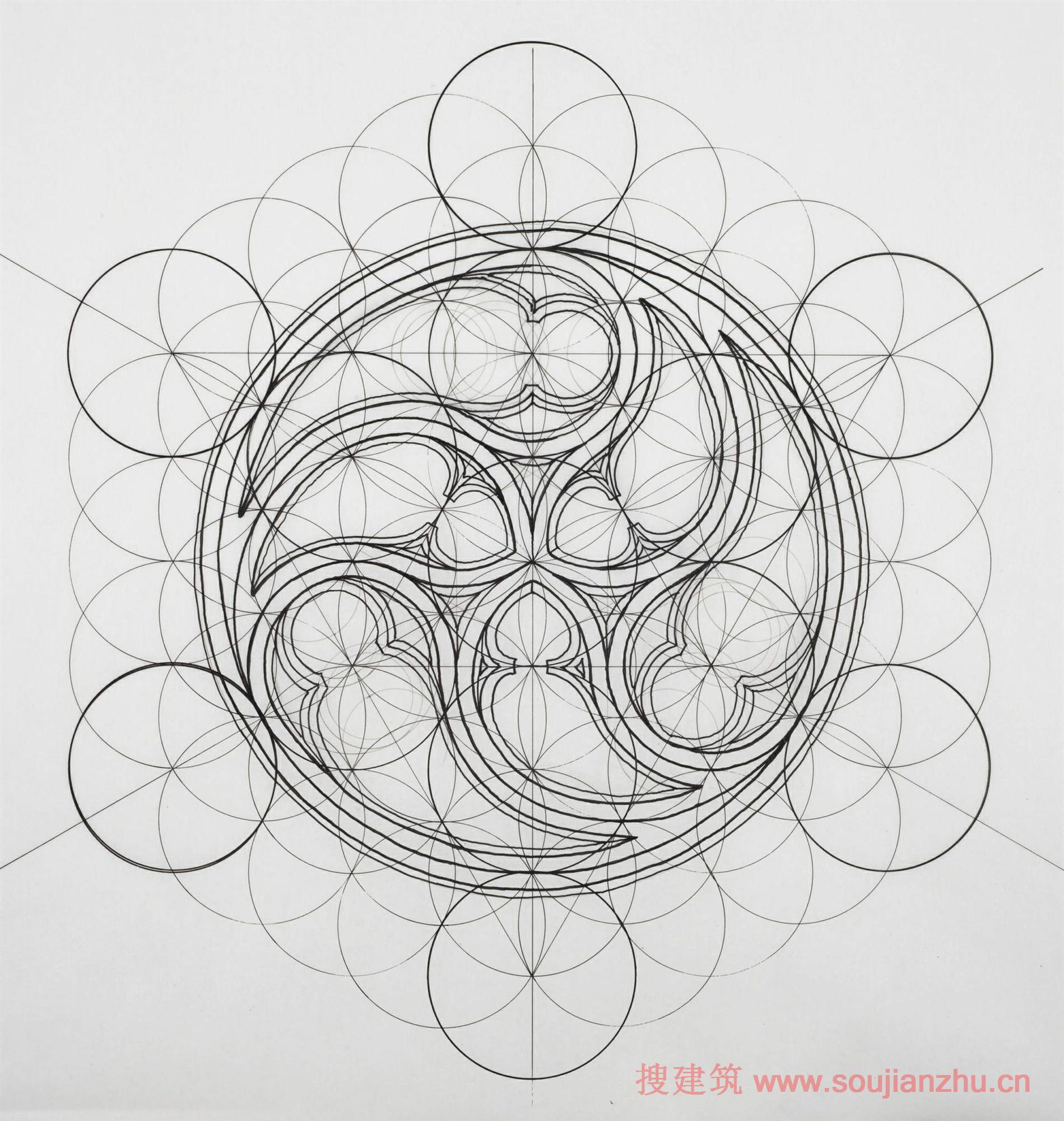 结果是完全由手工制作的大自然美丽的插图,其配有铅笔,尺,量角器.