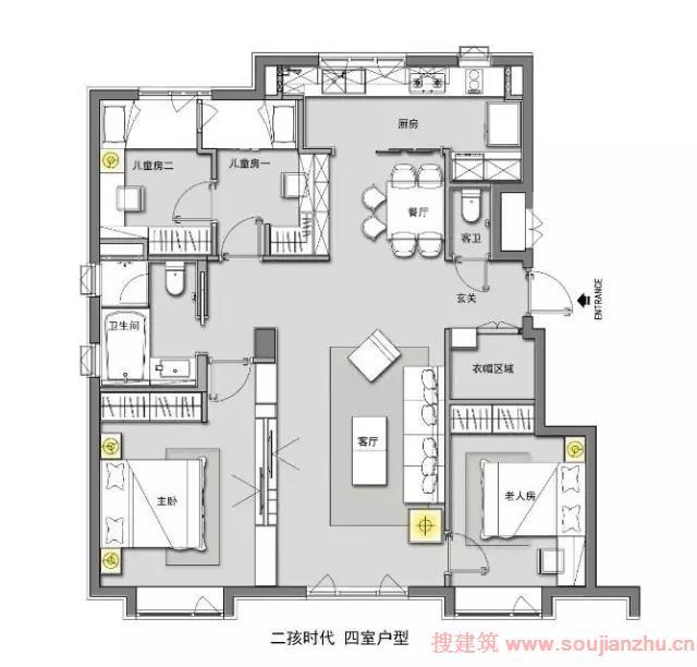 115平方房子设计图修