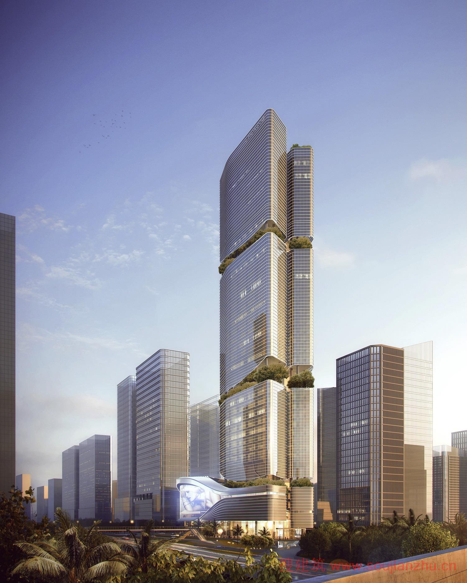 搜建筑网 -- 200米超高层塔楼