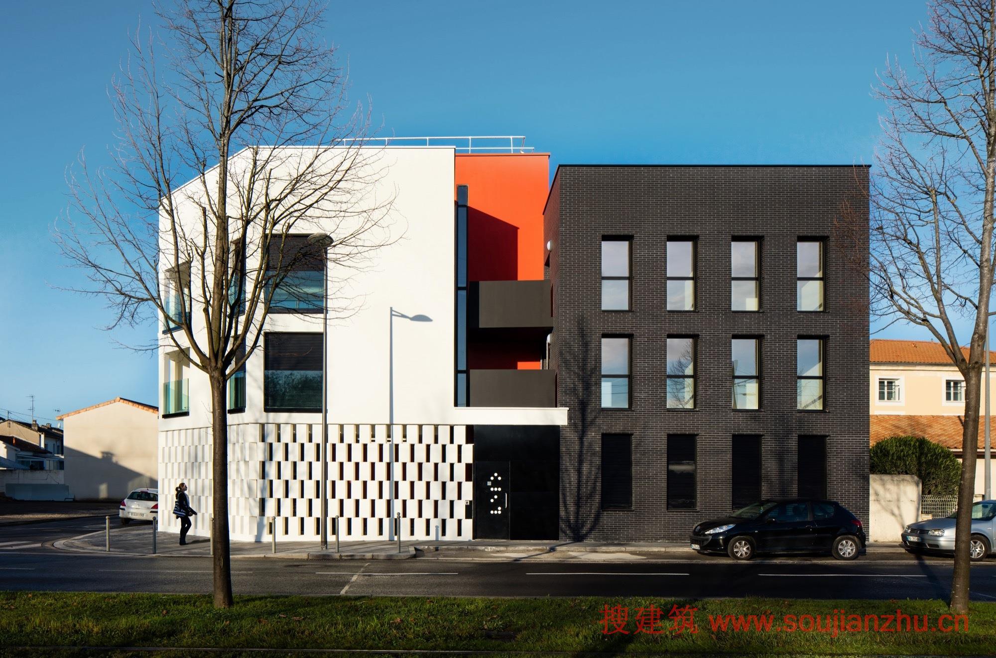 黑白体块的现代建筑