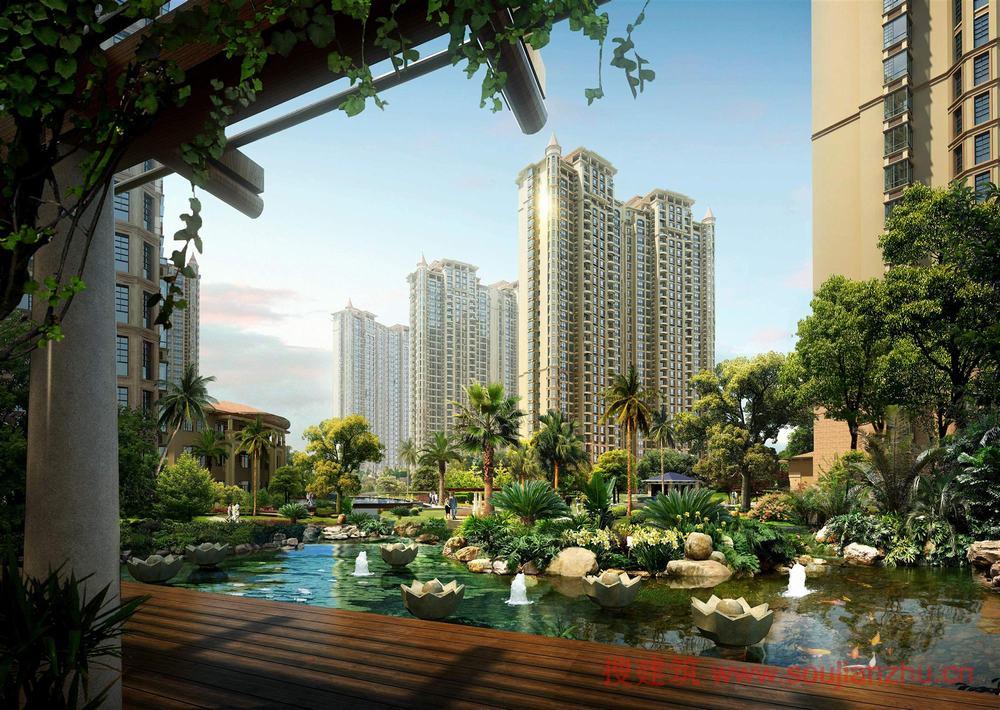 产品定位决定了景观形象,更直接地说是房屋售价决定了景观成本。根据笔者的经验,一个10万方的楼盘景观面积约3万方,20万方的楼盘的景观面积约7万方。景观面积占楼盘可售面积的30%左右,长三角地区大城市的楼盘普遍已达万元,而景观造价根据不同的品质,基本在300-700元间浮动,核算到楼面售价中,景观成本占0.